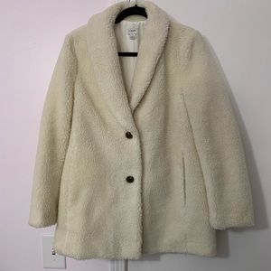 NWOT J Crew Factory Cream Teddy Bear Jacket Coat